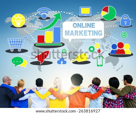 Global Business Online Marketing Planning Concept - stock photo
