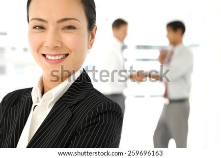 Global business partnership - stock photo