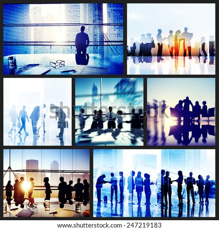 Global Business People Handshake Meeting Communication Concept - stock photo