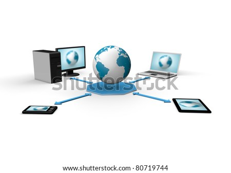 global cloud concept - stock photo