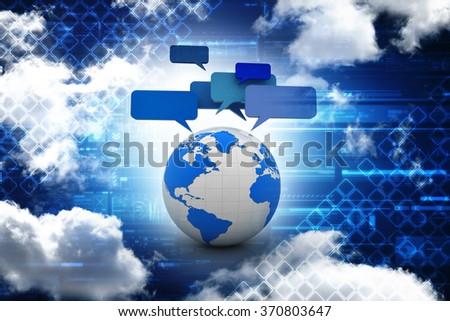 Global communication, international messaging and translation concept, speech bubbles - stock photo