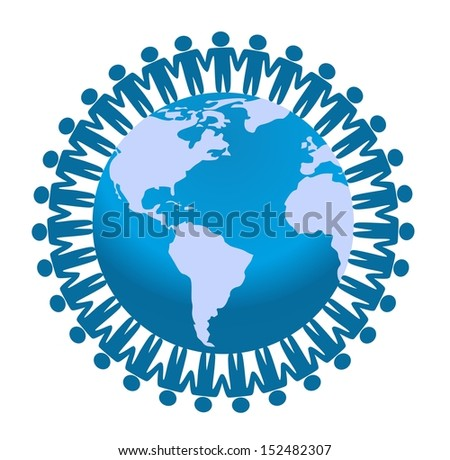 Global Communication Network - stock photo