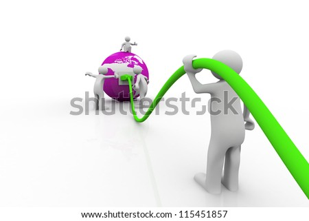 Global communication. People connecting world - stock photo