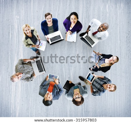 Global Communications Technology Laptop Digital Devices Concept - stock photo