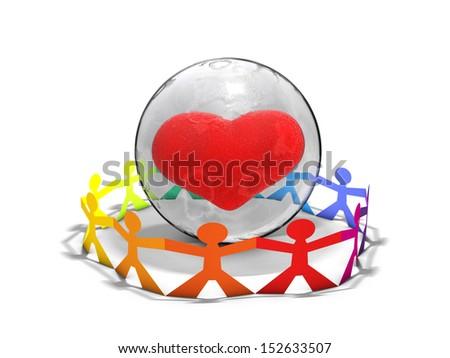 Global community - stock photo