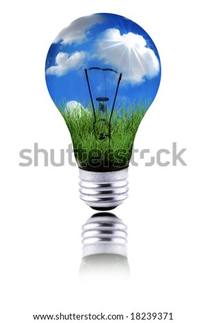 Global Concept of Healthy Planet Using Green Energy to Function - stock photo