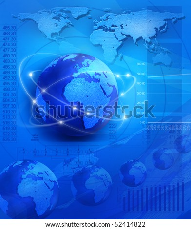 Global connection - communication and business edition - stock photo