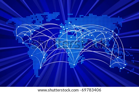 Global connections concept, no transparencies used - stock photo