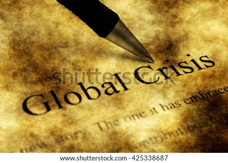 Global crisis grunge concept - stock photo