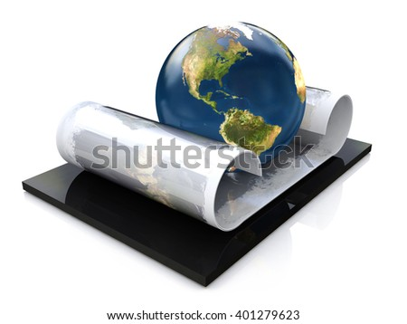 Global education concept. 3D rendered illustration - stock photo