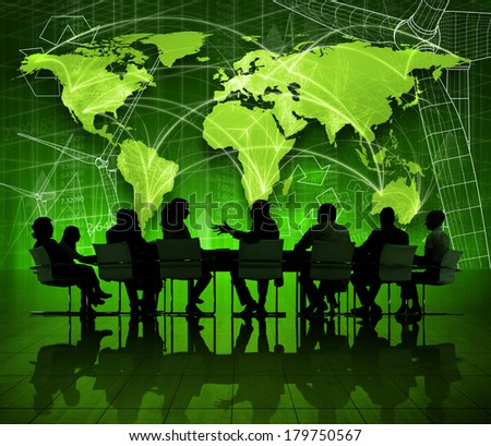 Global Environmental Business Meeting  - stock photo