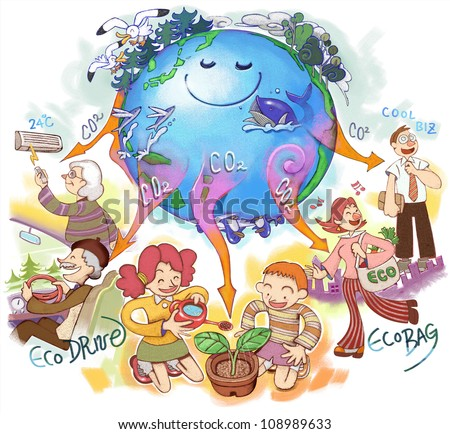 Global environmental issues - stock photo