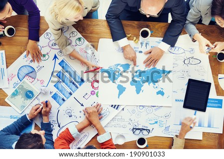 Global Finacial Business Meeting and Planning - stock photo