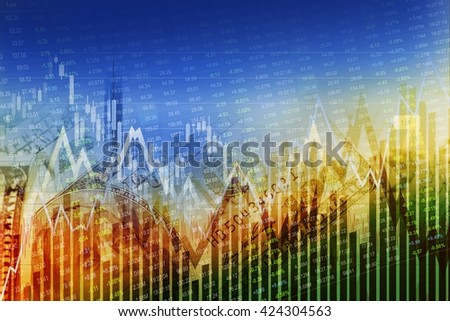 Global Financial Markets. World Economy Abstract Background. Stock Exchange and Forex Currency Trading. - stock photo
