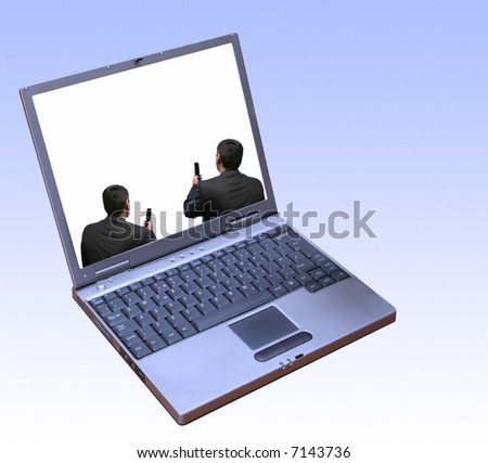 Global interaction - stock photo