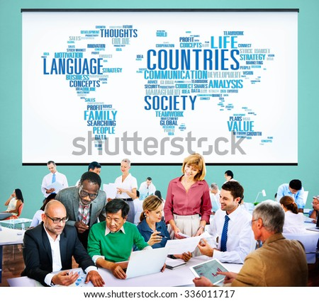 Global International Diverse Ethnic Nation Concept - stock photo