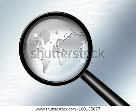 Global Investigate Abstract - stock photo