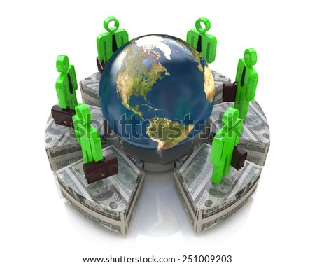 Global investment concept - Elements of this image furnished by NASA - stock photo