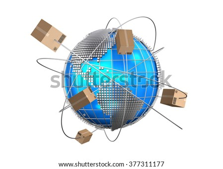 Global logistics network, cargo shipping, import-export commercial logistic, Logistic concept. - stock photo