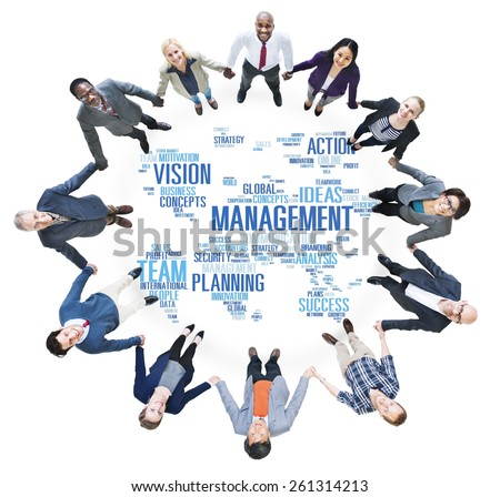 Global Management Training Vision World Map Concept - stock photo