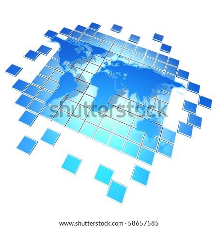 Global Media - stock photo