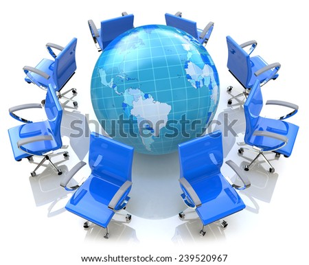 Global meeting concept  - stock photo