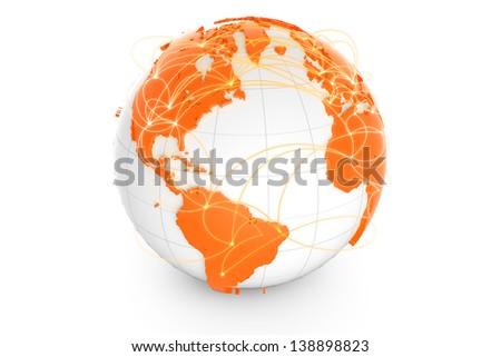 Global network - stock photo
