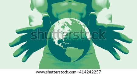 Global Network Connection and Integrated System art 3D Illustration Render - stock photo