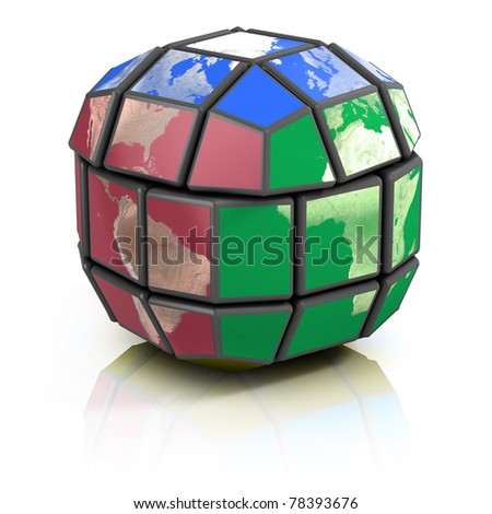 global politics, globalization 3d concept - stock photo