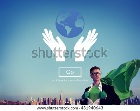 Global Prosperity Protect Earth Care Concept - stock photo