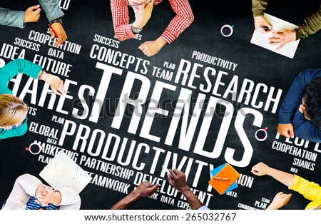 Global Shares Trends Ideas Sales Solution Expertise Concept - stock photo