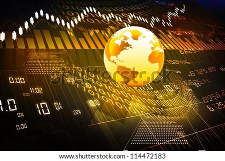 global stock market - stock photo