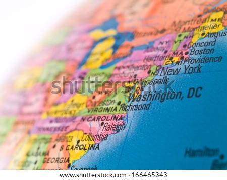Global Studies - Focus on the City of Washington DC - stock photo
