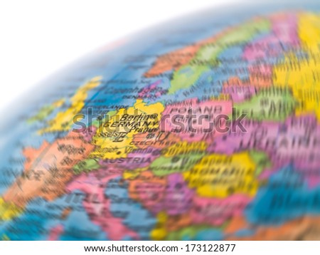 Global Studies of Europe with Emphasis on Germany - stock photo
