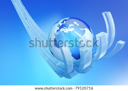 Global support - stock photo
