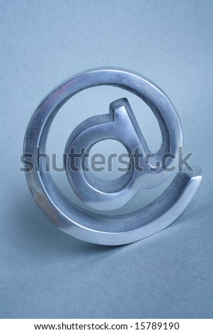 global symbol of internet in blue background - stock photo