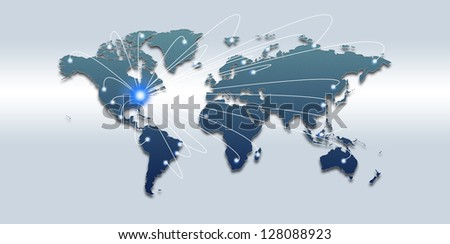 Global traffic and communications concept, abstract backgrounds - stock photo