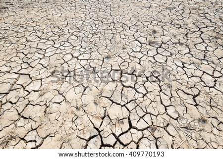 Global warming concept. Asia in general and Vietnam in specific. Drought cracked desert landscape. - stock photo