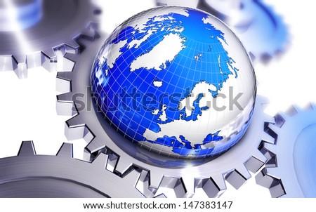 globalization - stock photo