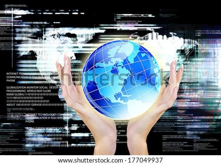 Globalization Communication Internet Technology - stock photo