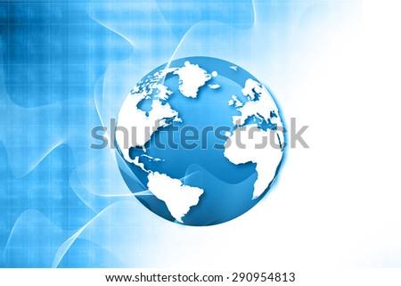 Globalization of fiber optics , Hi-tech technological background - stock photo