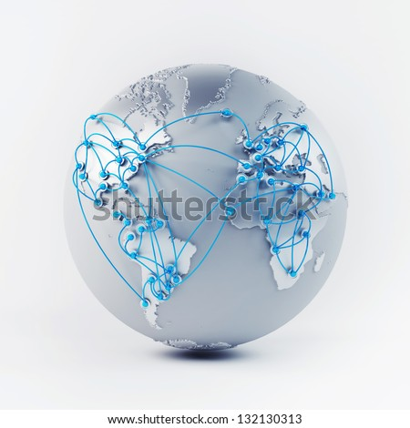 Globe Connections - stock photo