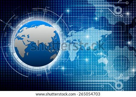 globe internet connecting - stock photo