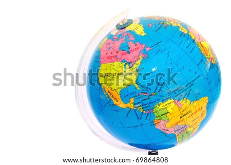 Globe isolated on white background. - stock photo