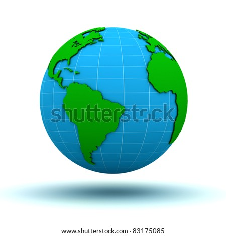 Globe map - stock photo