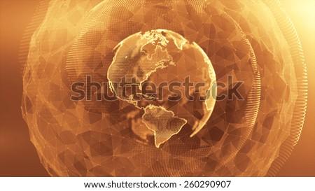 Globe Media - stock photo