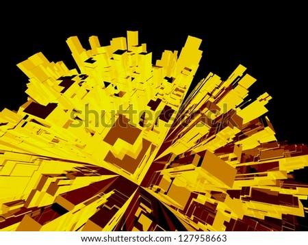 Globe of skyscrapers - stock photo