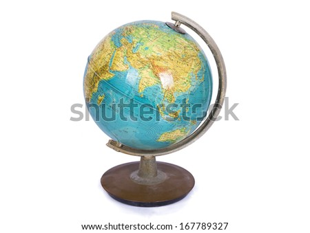 Globe on a white background - stock photo