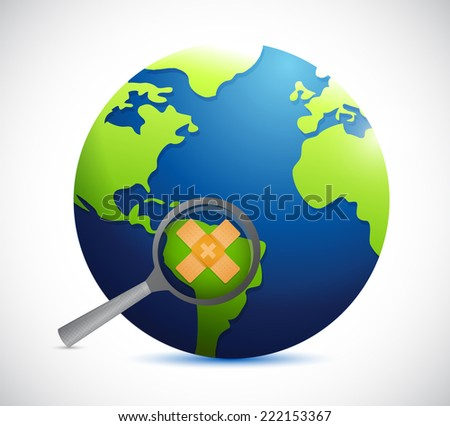 globe safety concept illustration design over a white background - stock photo