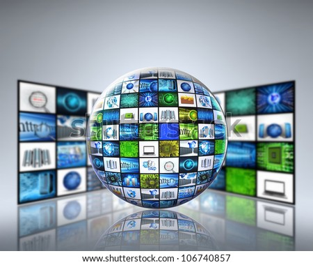 globe technology - stock photo